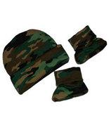 Preemie & Newborn Green Camouflage Hat and Booties Set - $16.00