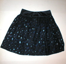 New NWT $348 Womens Blue Embroidered Silk Sequin Skirt W Worth NY 4 York... - $348.00