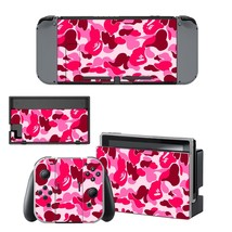 Camouflage vinyl decal for Nintendo switch console sticker skin - $15.00