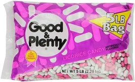 GOOD and PLENTY Candy, Classic Black Licorice Flavor, 5 Pound Bag - $20.47
