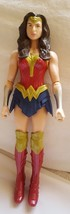 "2015 Mattel DC Wonder Woman Doll kids toy pre-owned hard plastic 12"" - $14.92"