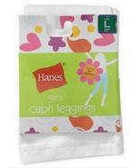 Girls Capri White Leggings Sz Large by Hanes Cotton Spandex Sz 10 to 12 ... - $9.95