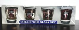 Chicago Bulls 3 peat Championship Collector Shot Glass Set lot of 4 shot... - $29.65