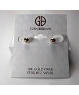 Giani Bernini 18K Gold over Sterling Silver Bead Ball Earrings - New - $39.60