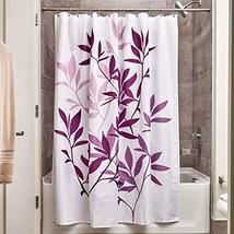"InterDesign 35690 Leaves Fabric Shower Curtain - Standard, 72"" x 72"", Purple/Whi - $12.06"