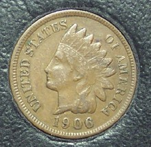 1906 Indian Head Cent VF #01166 - $4.99