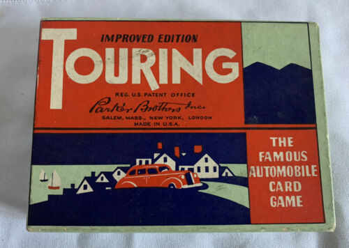 Primary image for Vintage Parker Bros. Touring Famous Automobile Card Game Complete  Used