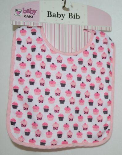 Ganz BG3191 Pink Hook Loop Cupcake Baby Girl Infant Bib