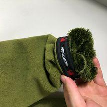 WoolRich Pile Fleece Jacket 1/2 Zip Men's M Green Long Sleeve Faux Fur Lined image 4