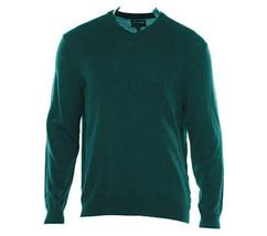 Men's Sweater Club Room Men's Solid Merino Wool Blend V Neck Sweater Siz... - $25.73