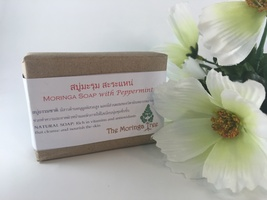 Leaves of Hope Moringa Soap with Peppermint - Handmade, Natural Ingredients - $6.95