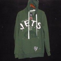 Medium New York Jets NFL Throwback Hoodie Full Zipper Rag Jacket - $15.82