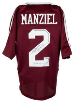 An item in the Collectibles category: Johnny Manziel Signed Maroon Custom College Style Football Jersey Gig Em JSA ITP
