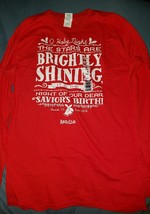 O HOLY NIGHT .. BRIGHTLY SHINING [NEW Kerusso Long sleeved CHRISTMAS T-S... - $19.75+