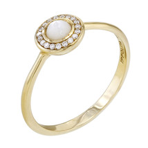 Ippolita Lecca-Lecca Madreperla Diamante ad Aureola Mini da Donna Anello - $504.71