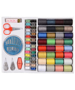 Sewing Thread Set 64pcs Spools Assorted Colors Sewing Threads Needles Ki... - $8.50