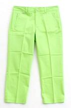Ralph Lauren Golf Bright Green Flat Front Cotton Stretch Golf Pants Wome... - $94.49