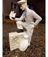 Royal Doulton Travellers Tale Sculpture  Eddie Griffith 1987 Porcelain Man - $470.25