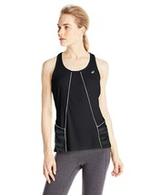 NWT ASICS Women's Size Large Reflective Black Tank Top Shirt - $16.82