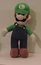 2012 Large Nintendo Super Mario Soft Plush LUIGI Doll Large 12 Inch - $14.85