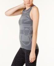 Calvin Klein Perf Jacquard Racerback Scuba Tank Top Charcoal Medium $39 - NWT - $9.79
