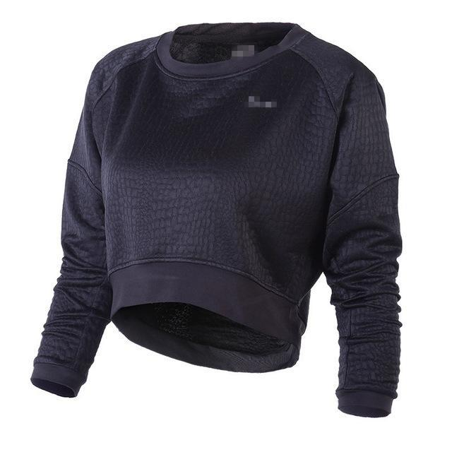 Long Sleeve Sweater Pullover Fitness Crop Top