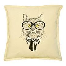 Vietsbay's Cat Portrait Printed Khaki Decorative Throw Pillows Case VPLC_02 - $14.39