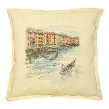 Vietsbay's Venice - Grand Canal Printed Khaki Decorative Pillows Case VP... - $14.39