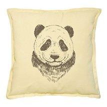 Vietsbay's Panda-2 Printed Khaki Decorative Throw Pillows Cushion Case V... - $14.39