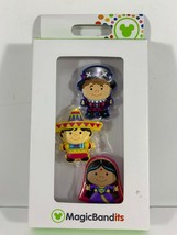 NIB Disney Parks Magic Kingdom Small World Character Magic Band Bandits Set of 3 - $5.57