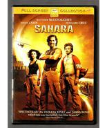 MATTHEW  McCONAUGHEY  &  PENELOPE  CRUZ  *  SAHARA  *  DVD - FULL SCREEN - $2.99