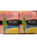 Qty 2 New Playtex Sport Unscented Regular FlexFit 14 Tampons Total 28 Ta... - $10.88