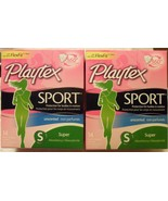 Qty 2 New NIB Playtex Sport Unscented Super FlexFit 14 Tampons total 28 ... - $10.88