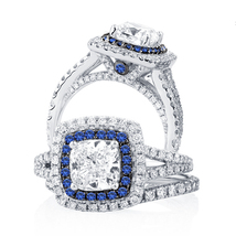 Pure 925 Silver Women's Jewelry 14K White Gold Filled Engagement Bridal Ring Set - $77.99