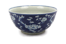 Beautiful Vintage Blue and White Style Cherry Plum Blossom Porcelain Bow... - $173.24