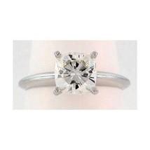 1 Ct Cushion Cut Moissanite Classic Engagement Ring 14K gold - $589.05
