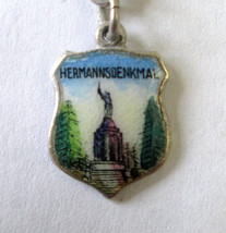 Vintage 835 Silver & enamel Hermannsdenkmal, Germany Shield Coat of Arms... - $8.90
