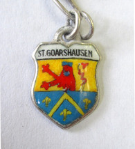 Vintage 800 Silver & enamel St. Goarshausen, Germany Shield Coat of Arms... - $8.90