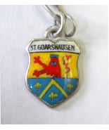 Vintage 800 Silver & enamel St. Goarshausen, Ge... - $10.29