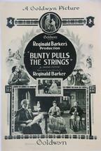 BUNTY PULLS THE STRINGS (1921) US One-Sheet Poster Leatrice Joy Scottish... - $499.00