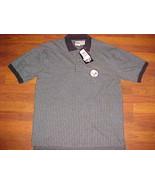 The Edge NFL AFC North Pittsburgh Steelers Black Stripes Golf Polo Shirt... - $24.74