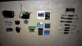 5 Yy63 Assorted Diodes (8), Relays (9), & Switches (6), Good Condition - $13.55