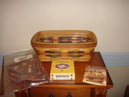 Longaberger Baker's Bounty Basket Shades Of Autumn Combo  - $38.99