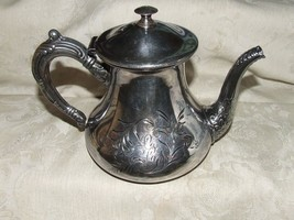 Antique 1886+ WEBSTER #677 Quad Silverplate TEA... - $155.00