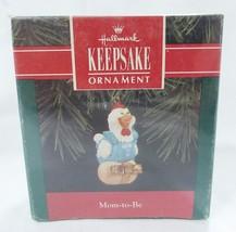 Vintage Hallmark keepsake christmas ornament mom to be chicken 1992 - $9.89