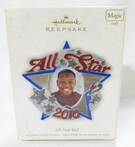 Hallmark keepsake christmas ornament all star kid 2010 photo holder - $10.88