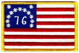American Flag Embroidered Patch Bennington 1776 Version Iron-On United States - $4.99
