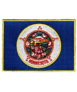 Minnesota State Flag Embroidered Patch Iron-On MN Emblem - $3.99