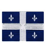 Quebec Flag Embroidered Patch French Canadian Province Iron-On Canada Na... - $3.99
