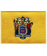 New Jersey State Flag Embroidered Patch Iron-On NJ Emblem - $3.99
